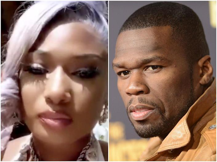 50 Cent reshared Megan's video to his Instagram in apology: Instagram/Getty