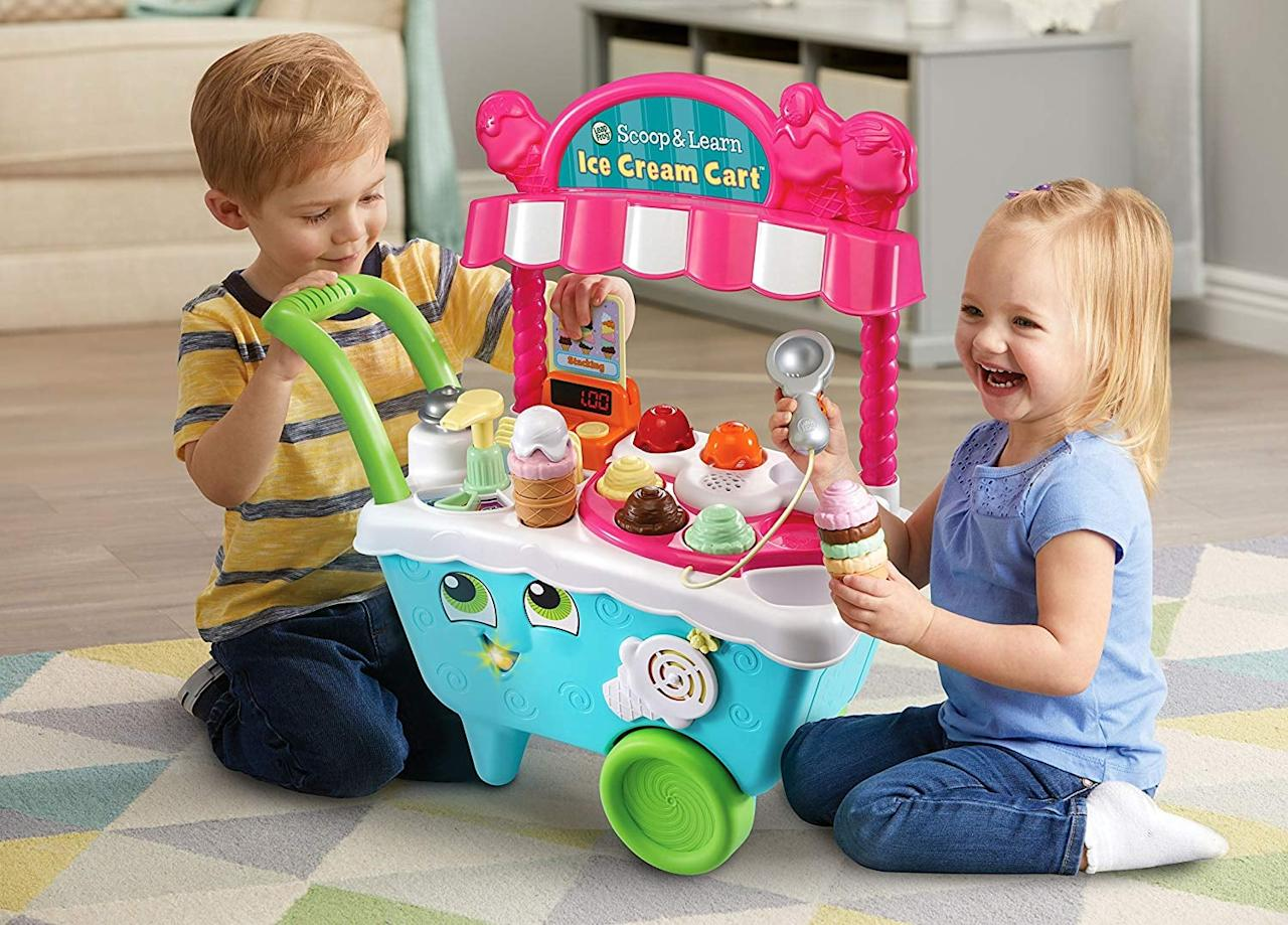 "<p>This push <a href=""https://www.popsugar.com/buy/LeapFrog-Scoop-amp-Learn-Ice-Cream-Cart-517790?p_name=LeapFrog%20Scoop%20%26amp%3B%20Learn%20Ice%20Cream%20Cart&retailer=amazon.com&pid=517790&price=30&evar1=moms%3Aus&evar9=46095735&evar98=https%3A%2F%2Fwww.popsugar.com%2Ffamily%2Fphoto-gallery%2F46095735%2Fimage%2F46901801%2FLeapFrog-Scoop-Learn-Ice-Cream-Cart&list1=shopping%2Ctoys%2Cgift%20guide%2Ckid%20shopping&prop13=api&pdata=1"" rel=""nofollow"" data-shoppable-link=""1"" target=""_blank"" class=""ga-track"" data-ga-category=""Related"" data-ga-label=""https://www.amazon.com/LeapFrog-Scoop-Learn-Cream-Cart/dp/B06XKXPLRP/ref=sr_1_5?crid=1SZBUBANFE9ME&amp;keywords=toys+for+4+year+old&amp;qid=1573762589&amp;sprefix=toys+for+4%2Caps%2C227&amp;sr=8-5"" data-ga-action=""In-Line Links"">LeapFrog Scoop &amp; Learn Ice Cream Cart</a> ($30, originally $40) comes with six cute animal order cards, so they can learn to build memory and sequencing skills.</p>"
