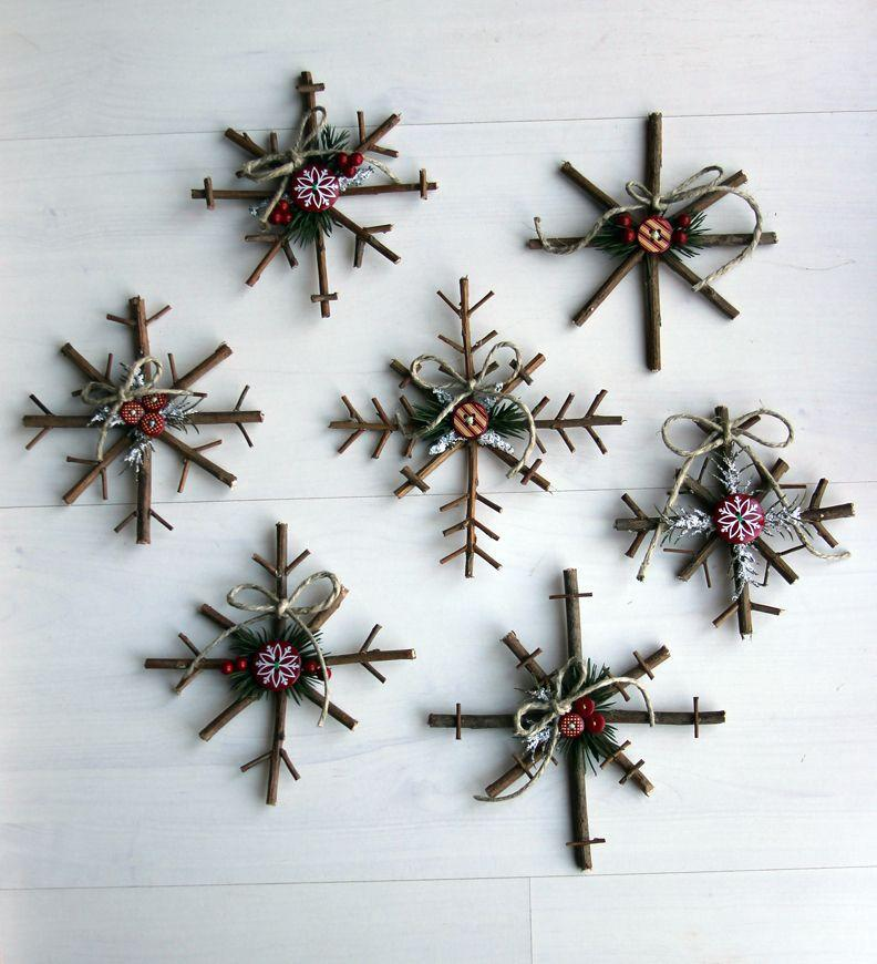 """<p>These charming crafts are made with twigs and decorated with button stickers, pine needles, berries, twine, and felt. They can even be used for festive wall art this holiday season. </p><p><strong>Get the tutorial at <a href=""""http://www.littlethingsbringsmiles.com/2010/12/rustic-snowflake-tutorial.html"""" rel=""""nofollow noopener"""" target=""""_blank"""" data-ylk=""""slk:Little Things Bring Smiles"""" class=""""link rapid-noclick-resp"""">Little Things Bring Smiles</a>. </strong></p><p><a class=""""link rapid-noclick-resp"""" href=""""https://www.amazon.com/flic-flac-inches-Assorted-Fabric-Patchwork/dp/B01GCRXBVE/?tag=syn-yahoo-20&ascsubtag=%5Bartid%7C10050.g.1070%5Bsrc%7Cyahoo-us"""" rel=""""nofollow noopener"""" target=""""_blank"""" data-ylk=""""slk:SHOP FELT"""">SHOP FELT</a><br></p>"""