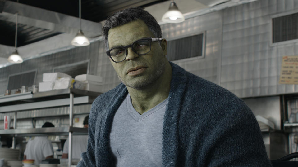 Mark Ruffalo as Hulk in 'Avengers: Endgame'. (Credit: Marvel/Disney)