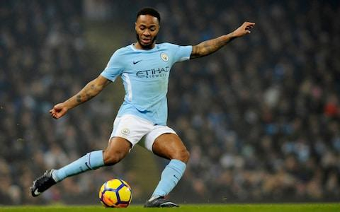 Manchester City's Raheem Sterling attempts a shot at goal as Man City crush Tottenham Hotspur - Credit: Rui Vieira /AP