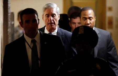 FILE PHOTO: Special Counsel Mueller departs after briefing members of the U.S. Senate on his investigation in Washington