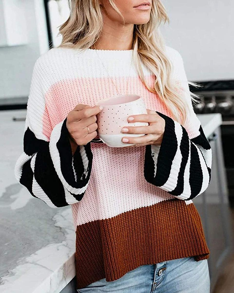 <p>This <span>Zesica Colorblock Sweater</span> ($31) is hands down the most beloved sweater on Amazon.</p>