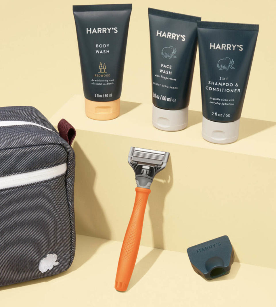 best fathers day gifts, harrys shower and shave travel kit