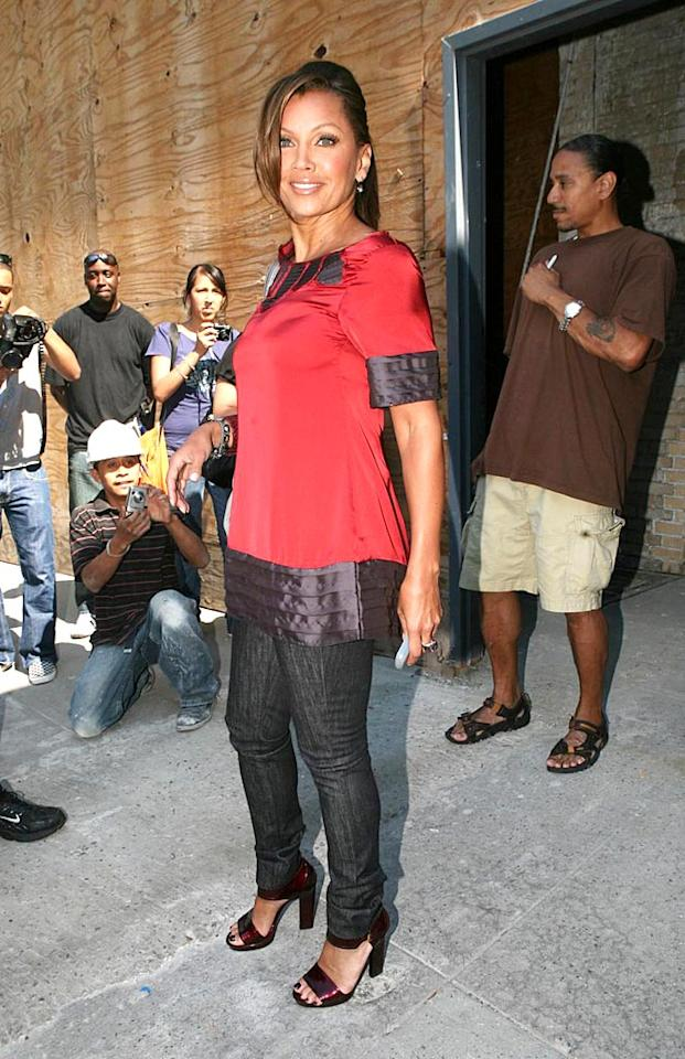 """""""Ugly Betty"""" vixen Vanessa Williams continues to put women half her age to shame. This 45-year-old is simply flawless! <a href=""""http://www.pacificcoastnews.com/"""" target=""""new"""">PacificCoastNews.com</a> - August 18, 2008"""