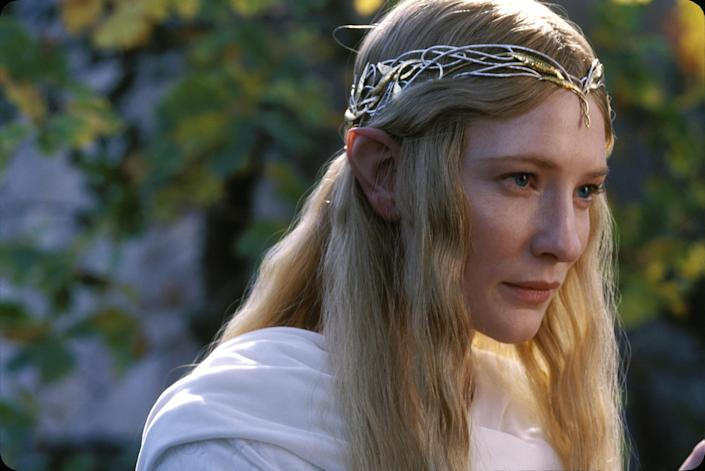 """Cate Blanchett as Galadriel in 'The Lord of the Rings: The Fellowship of the Ring'<span class=""""copyright"""">New Line Cinema</span>"""