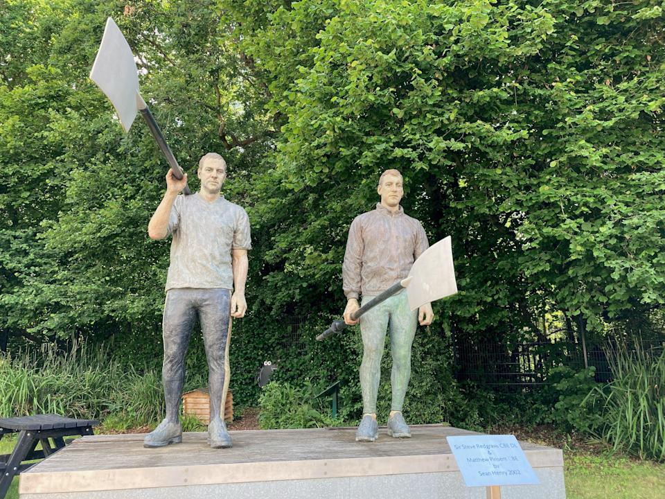 Statue of Sir Steve Redgrave and Sir Matthew Pinsent outside the River & Rowing Museum, Henley (Hannah Stephenson/PA)