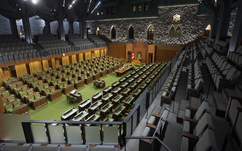 <p>The updated House chamber, seen here in Ottawa on Jan. 28, is barrier-free thanks to new renovations, which first began in 2011. Photo from The Canadian Press. </p>