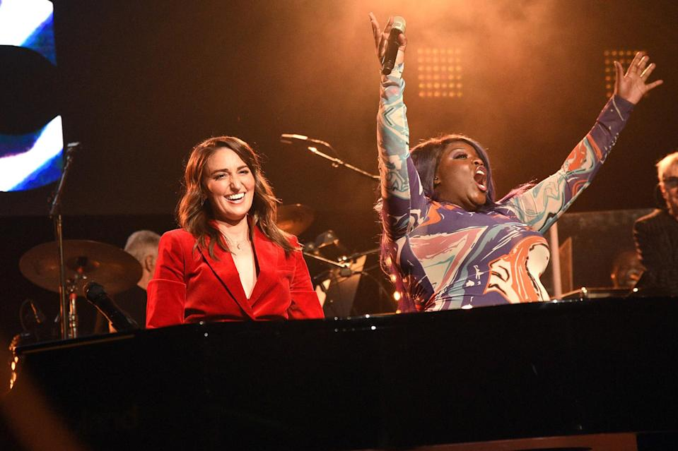 <p>Sara Bareilles and Yola take the stage at the Fifth Annual Love Rocks NYC Benefit Concert Livestream for God's Love We Deliver at The Beacon Theatre on June 3 in N.Y.C. </p>