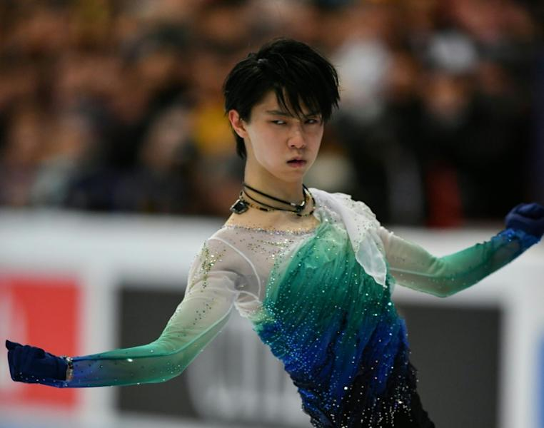 Japan's Yuzuru Hanyu in action during the free programme at the World Figure Skating Championships in Helsinki, on April 1, 2017