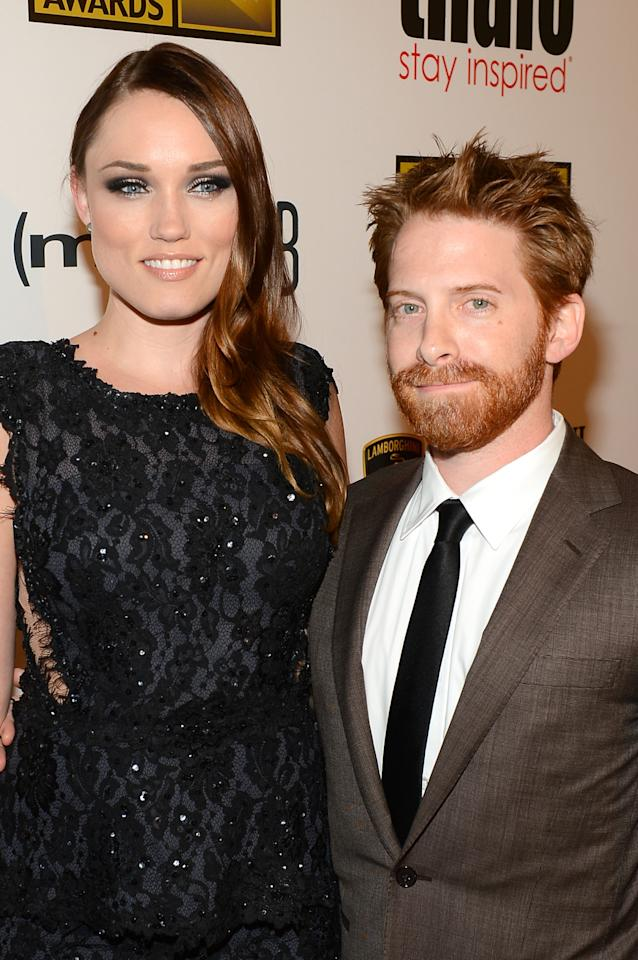 LOS ANGELES, CA - JUNE 10: (L-R) Actors Clare Grant and Seth Green arrive at Broadcast Television Journalists Association's third annual Critics' Choice Television Awards at The Beverly Hilton Hotel on June 10, 2013 in Los Angeles, California. (Photo by Mark Davis/Getty Images for CCTA)