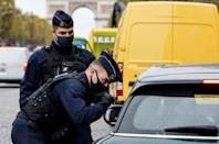 Police checks are a fact of life for anyone hoping to leave home in France for at least the next month