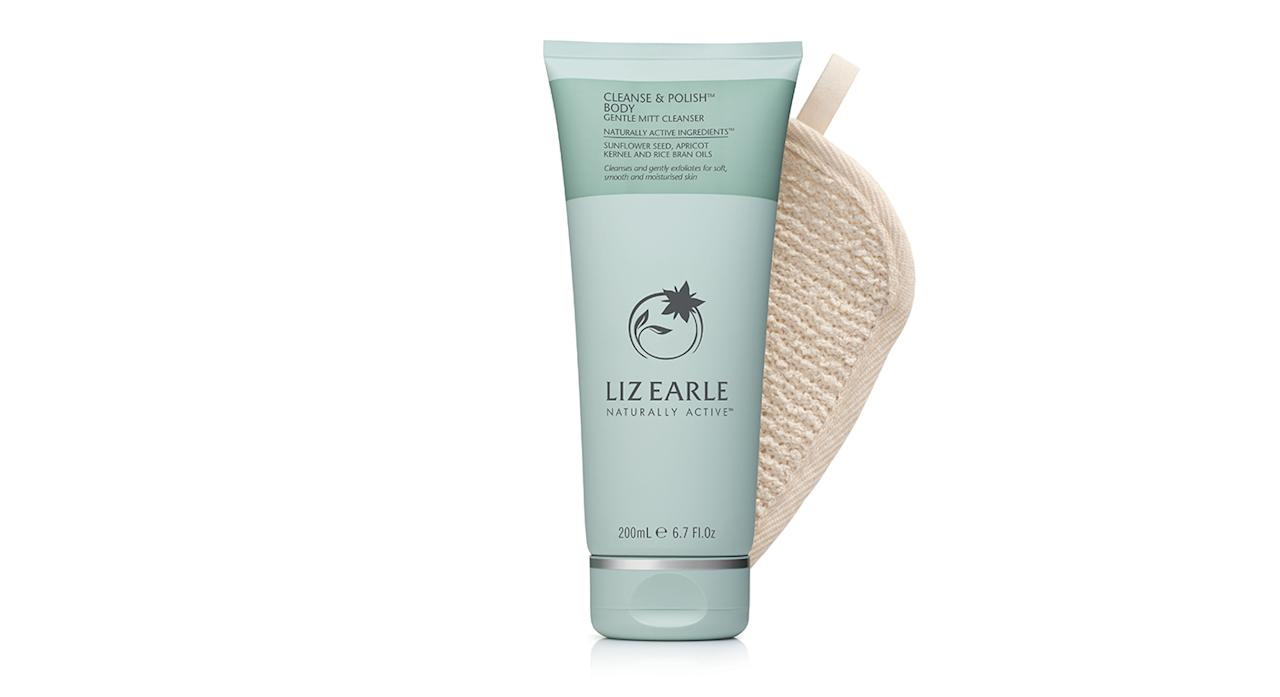"<p>Liz Earle's spent the past five years turning its cult Cleanse & Polish Hot Cloth Cleanser into a body product – and the end product doesn't disappoint. Drawing on the same unique two-phase cleansing system, it softens and smooths skin and is suitable for all skin types. <em>Available from <a rel=""nofollow"" href=""http://boots.com"">Boots</a>.</em> </p>"