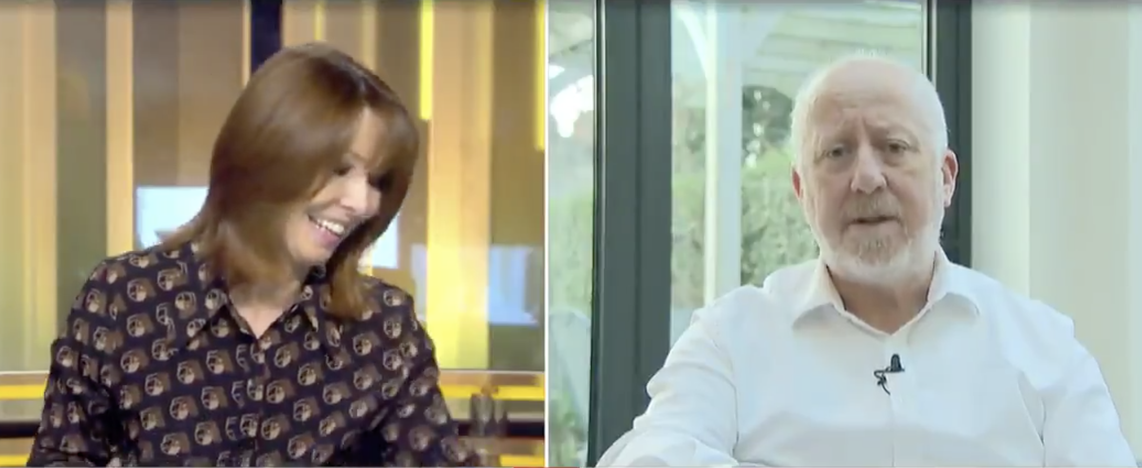 Kay Burley and Andy McDonald clash on Sky News on Thursday (Sky News)
