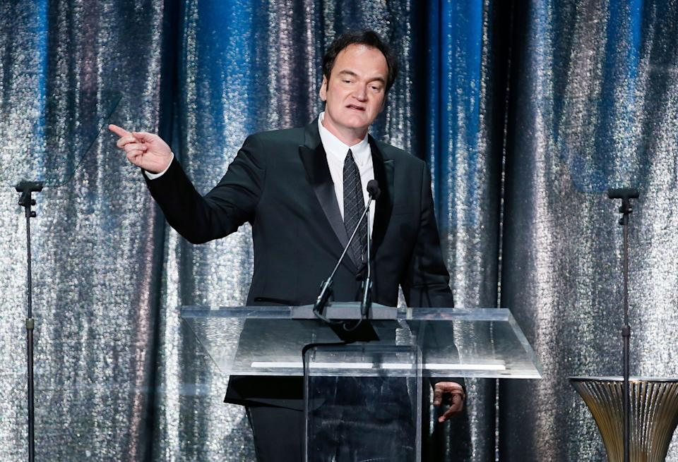 Director Quentin Tarantino presents the Lifetime Achievement Award to Robert Richardson, ASC at the 33rd annual ASC Awards and The American Society of Cinematographers 100th Anniversary Celebration at the Ray Dolby Ballroom at Hollywood & Highland, Saturday, February 9, 2019 in Hollywood, California. Credit: Moloshok Photography./imageSPACE/MediaPunch /IPX