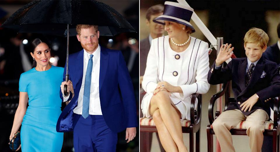 Harry and Meghan planted Diana's favourite flower as they marked the anniversary of her death. (Getty Images)