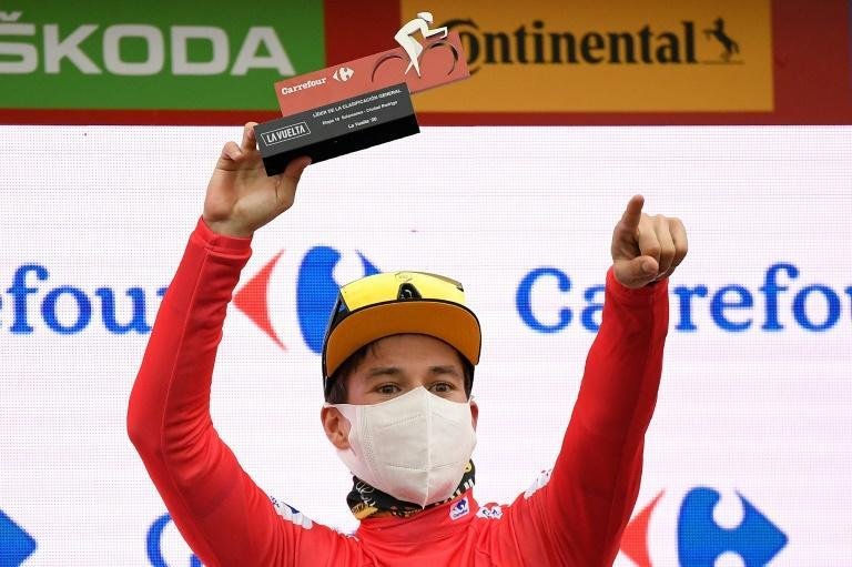 Team Jumbo's Primoz Roglic has traded the Vuelta a Espana's leader's red jersey with Richard Carapaz since stage one