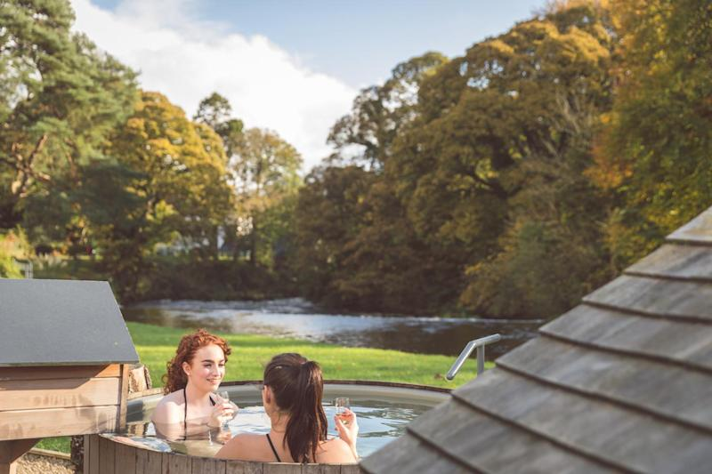 Riverside hot tubs are a highlight at Galgorm spa (Galgorm)