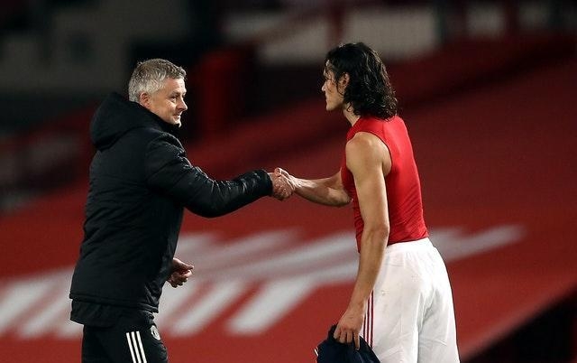Ole Gunnar Solskjaer is set to be without Edinson Cavani at Sheffield United