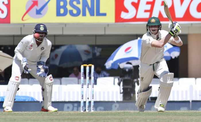 Third Test (Tea Report): Smith steadies Australia after early blows