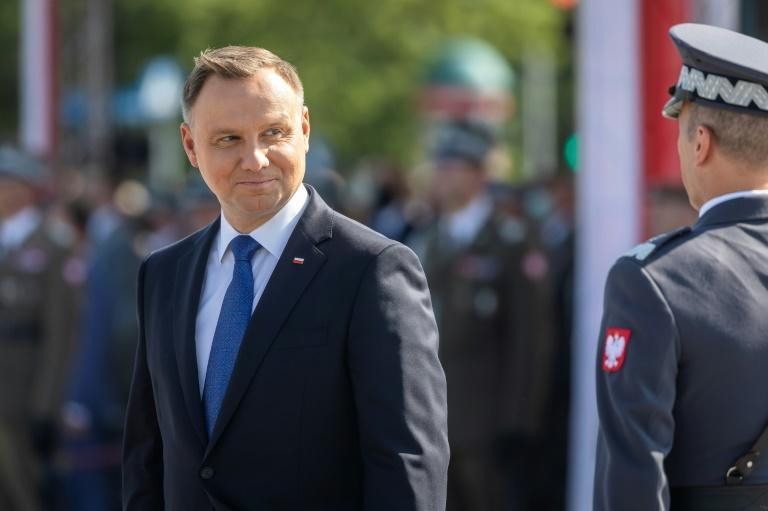 Polish President Andrzej Duda is close to the ruling right-wing PiS (Law and Justice) party