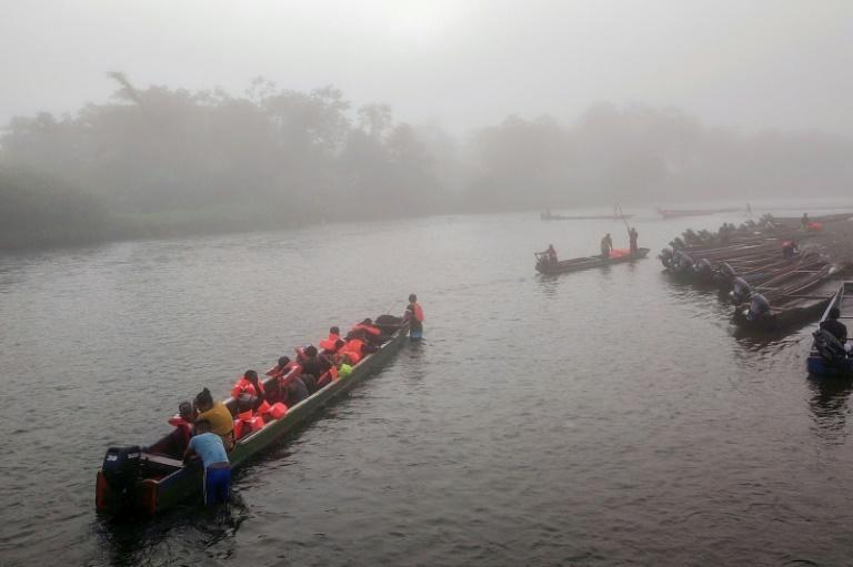 The journey by canoe costs $25 each and is only the next in a multitude of steps on the road to migrants' ultimate destination: the United States