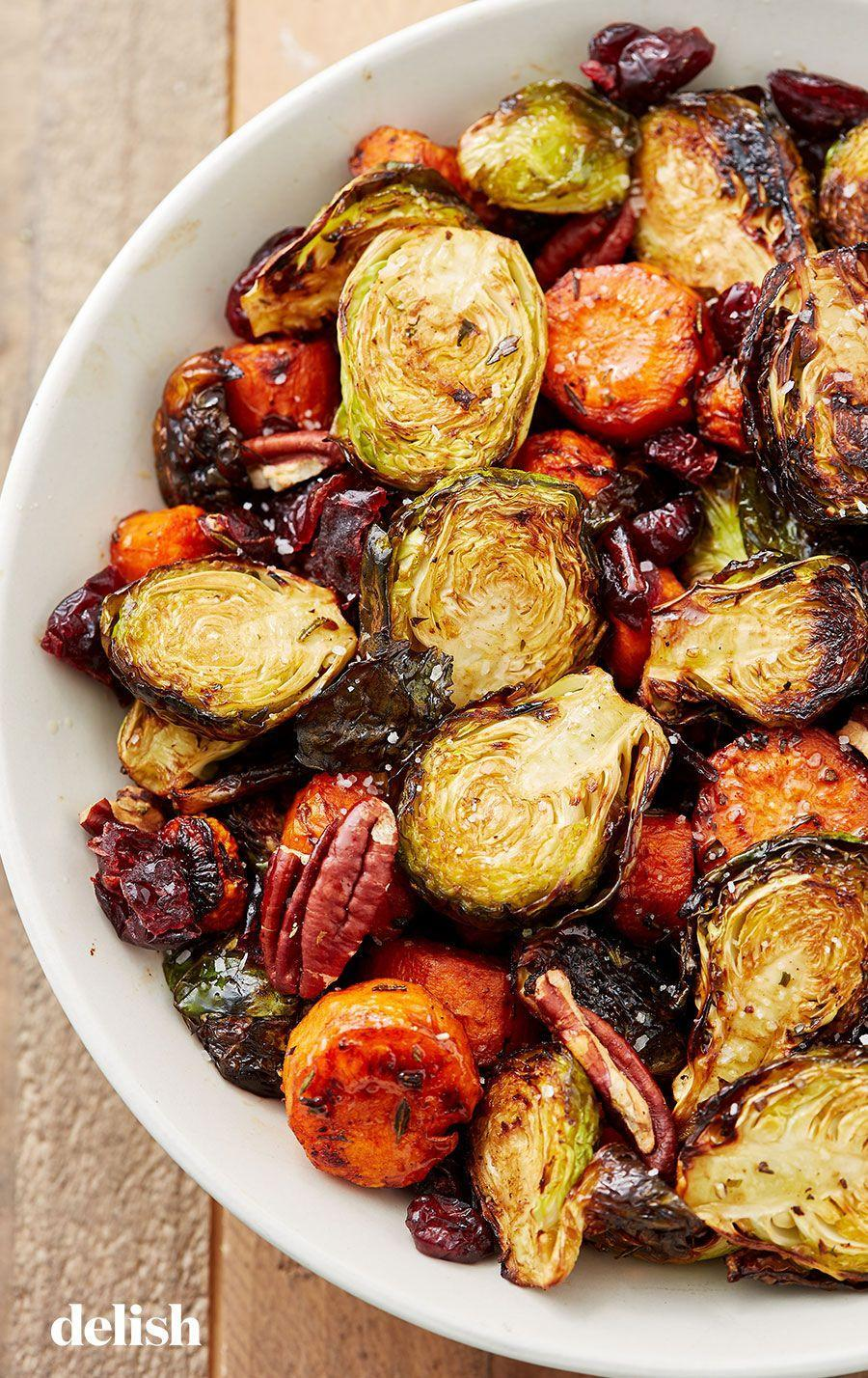 """<p>Holidays mean no basic veggies allowed.</p><p>Get the recipe from <a href=""""https://delish.com/cooking/recipe-ideas/recipes/a50228/holiday-roasted-vegetables-recipe/"""" rel=""""nofollow noopener"""" target=""""_blank"""" data-ylk=""""slk:Delish"""" class=""""link rapid-noclick-resp"""">Delish</a>. </p>"""