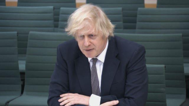 Boris Johnson gives evidence to the Commons Liaison Committee (PA Video/PA)