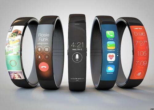 Artist's concept of the iWatch