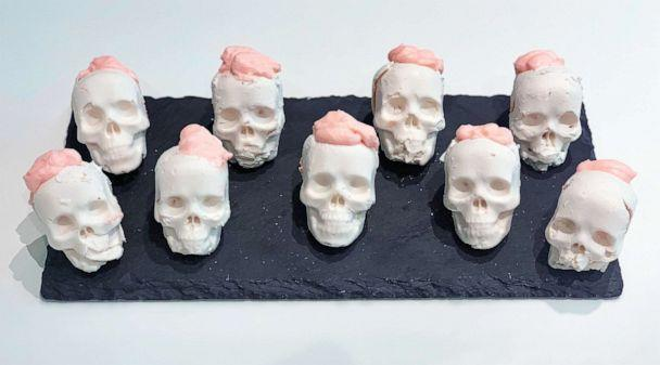 PHOTO: I made Pinterest's top 10 Halloween recipes of 2019, which included chocolate skulls. (ABC News)
