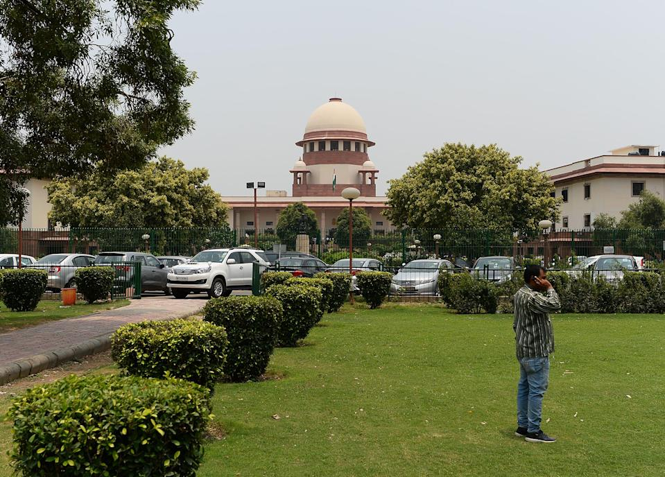 <p>Representative: The Indian Supreme Court building is pictured in New Delhi on 10 July 2018</p> (AFP via Getty Images)