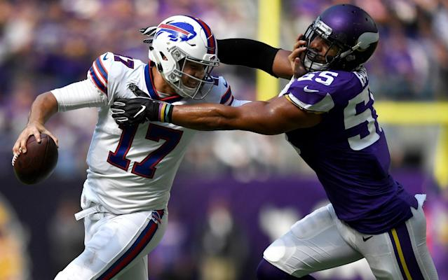 Rookie quarterback Josh Allen helped the Bills to a shock victory over the Minnesota Vikings on Sunday - Getty Images North America