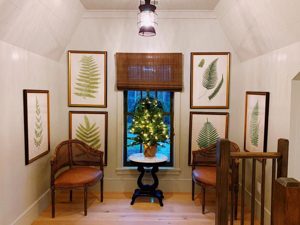 <p>Replace the usual vase of flowers on an accent table with a tiny Christmas tree in December.</p>