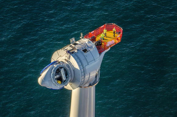 A GE offshore wind turbine