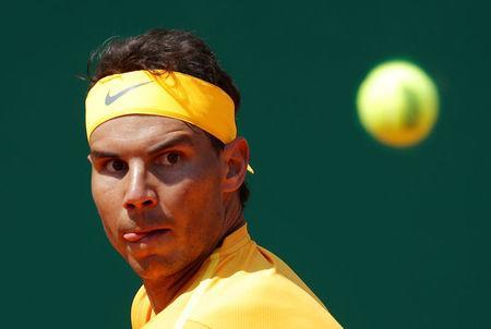 Tennis - ATP - Monte Carlo Masters - Monte-Carlo Country Club, Monte Carlo, Monaco - April 20, 2018 Spain's Rafael Nadal in action during his quarter final match against Austria's Dominic Thiem REUTERS/Eric Gaillard