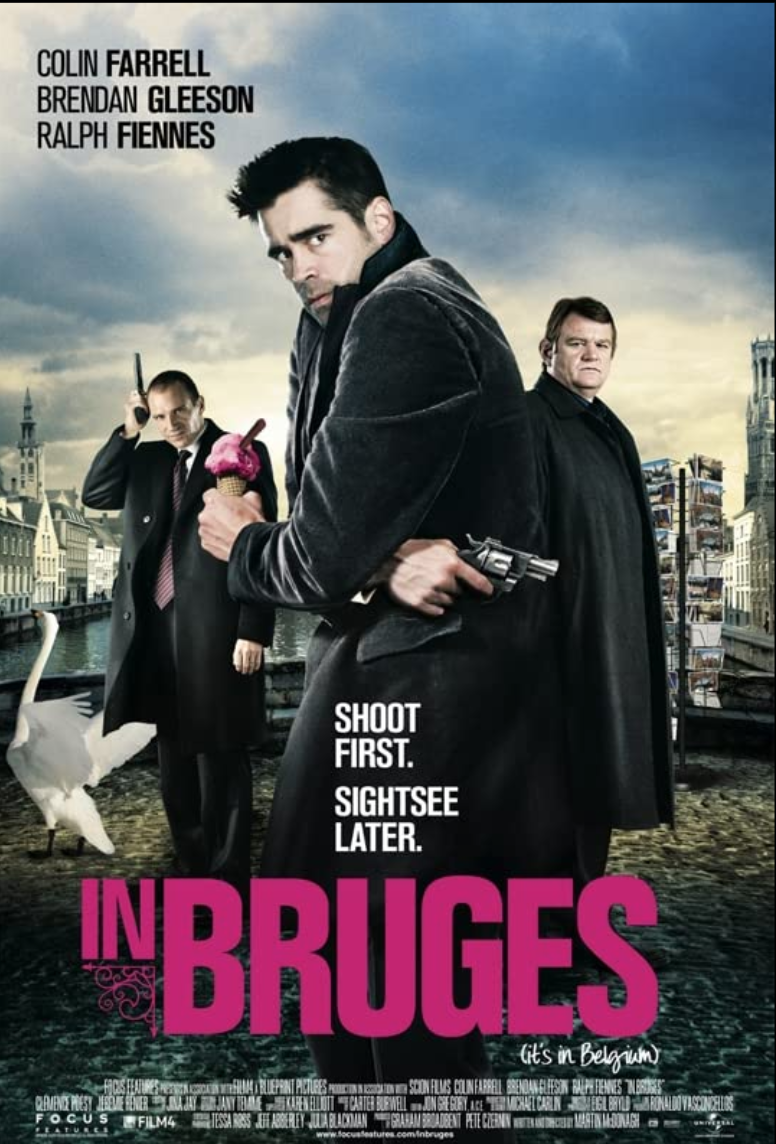 """<p>We don't have a lot of humor on this list aside from occasional scenes of comedic wise guys. With <em>In Bruges</em>—more a seriocomedy than a comedy—director Martin McDonagh injects levity into a dramatic buddy gangster story. A cult favorite. </p><p><a class=""""link rapid-noclick-resp"""" href=""""https://www.amazon.com/Bruges-Colin-Farrell/dp/B0018T4GE8/ref=sr_1_1?dchild=1&keywords=In+Bruges+%282008%29&qid=1619534047&s=instant-video&sr=1-1&tag=syn-yahoo-20&ascsubtag=%5Bartid%7C2139.g.36133257%5Bsrc%7Cyahoo-us"""" rel=""""nofollow noopener"""" target=""""_blank"""" data-ylk=""""slk:STREAM IT HERE"""">STREAM IT HERE</a></p>"""