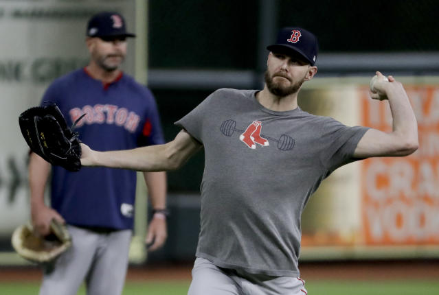 Red Sox ace Chris Sale reportedly pranked the media with joke about belly button ring causing his illness. width=