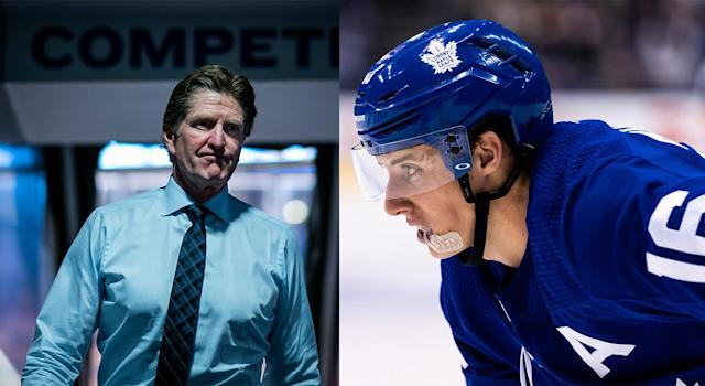 Stories about Mike Babcock's questionable coaching tactics throughout his NHL head coaching career continue to surface since his firing, including one involving Mitch Marner. (Getty Images)
