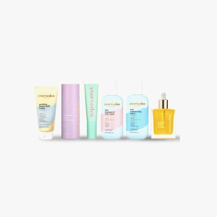 """$125, EVER EDEN. <a href=""""https://www.ever-eden.com/collections/mom/products/luxe-baby-and-mom-gift-set"""" rel=""""nofollow noopener"""" target=""""_blank"""" data-ylk=""""slk:Get it now!"""" class=""""link rapid-noclick-resp"""">Get it now!</a>"""