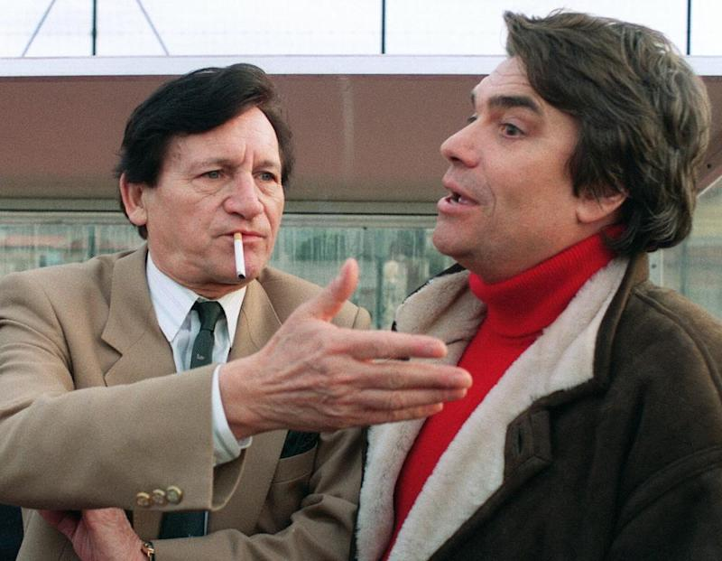 Raymond Goethals talking with Bernard Tapie.