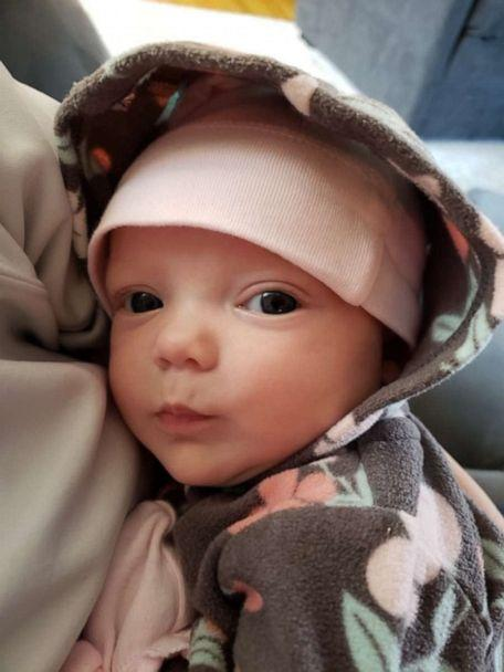 PHOTO: Sarah Dixon, a secretary in the labor and delivery unit at St. Elizabeth's Healthcare in Kentucky,, welcomed a girl, Jensyn, on Sept. 11 weighing 5 pounds, 10 ounces. (St. Elizabeth's Healthcare)