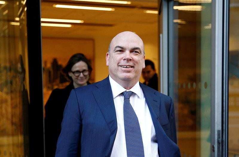British entrepreneur Mike Lynch leaves the High Court in London
