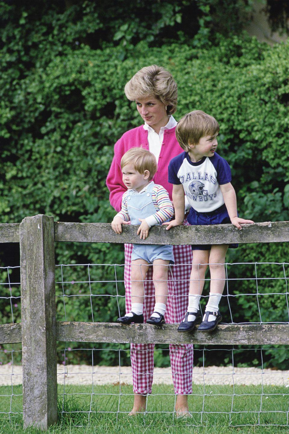 <p>With both Harry and William at Highgrove In Tetbry.</p>
