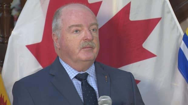 Social Development Minister Bruce Fitch welcomed the news of the increased vaccination rates among long-term care workers. (Ed Hunter/CBC - image credit)