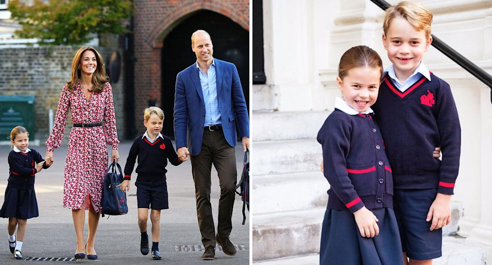 Princess Charlotte hugs brother Prince George in a sweet photo. [Photo: Kensington Palace/Twitter]