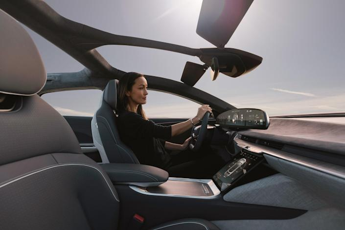 Interior of the Lucid Air-2.