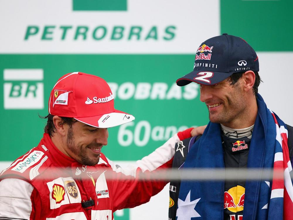 Alonso and Webber are good friends away from the track (Getty)