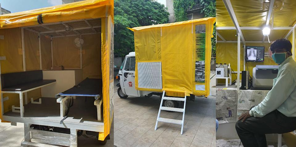 How university scholars converted auto rickshaws into mobile testing labs