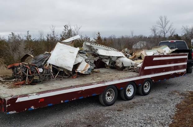 The Transportation safety Board removed the wreckage from an area near Creekford Road and Bayridge Drive in Kingston, Ont.