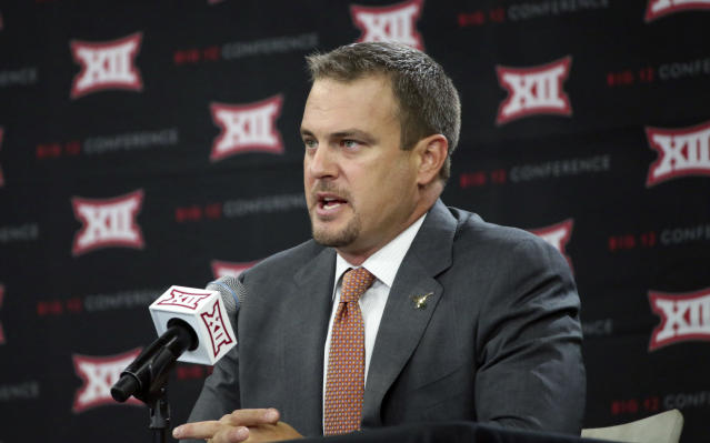 Tom Herman had a 22-4 record in two seasons at Houston before accepting the job at Texas. (AP Photo/LM Otero)